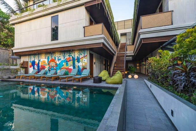 Swimming Pool Artotel Ubud - Hotel di Bali